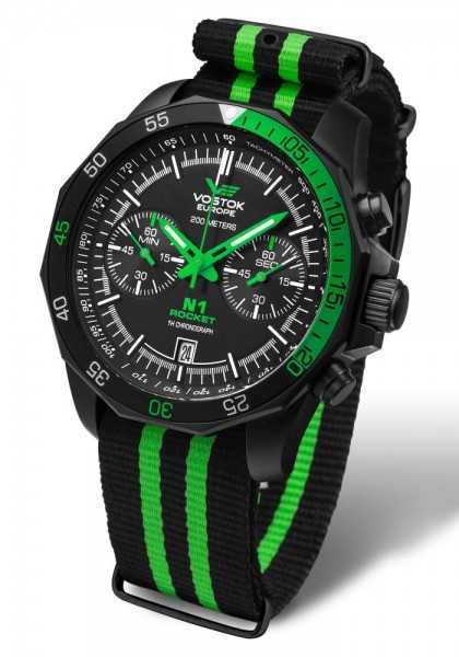 Vostok Europe Rocket N1 Chronograph 2254252-N - Textilband - 46 mm  - Totale